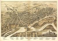 Vintage Pictorial Map of Brantford Canada (1875)