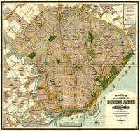 Vintage Map of Buenos Aires Argentina (1921)