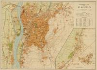 Vintage Map of Cairo Egypt (1920)