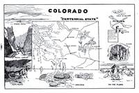 Vintage Map of Colorado (1912)