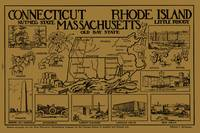 Vintage Illustrative Southern New England States M