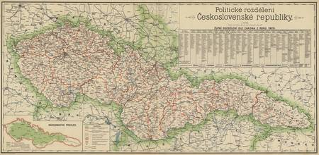 Vintage Map of The Czech Republic (1920)