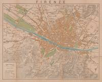 Vintage Map of Florence Italy (1910)