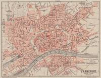Vintage Map of Frankfurt Germany (1900)