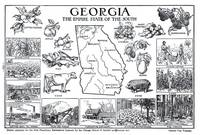 Vintage Map of Georgia (1912)