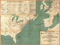 Vintage German US Immigration Map (1853)