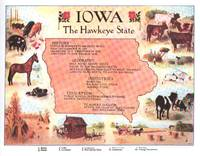 Vintage Map of Iowa (1912)