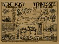 Vintage Illustrative Kentucky and Tennessee Map (1