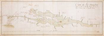 Vintage Map of Lake Champlain (1759)