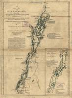 Vintage Map of Lake Champlain & Lake George (1776)
