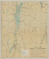 Vintage Lake Champlain Lighthouse Map (1896)