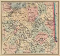 Vintage Map of The NH Lakes Region (1890)