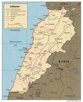 Map of Lebanon (2000)