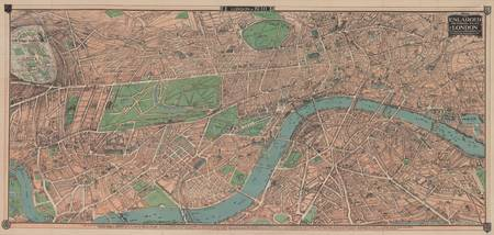 Vintage Pictorial Map of London England (1910)