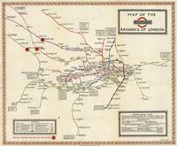 Vintage Map of The London Underground (1923)