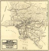 Vintage Los Angeles County Railway Map (1912)
