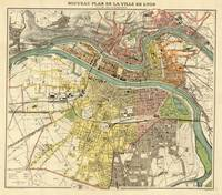 Vintage Map of Lyon France (1913)