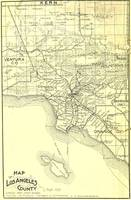 Vintage Map of Los Angeles County (1895)