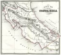 Vintage Map of Costa Rica (1850)