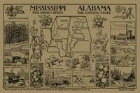 Vintage Alabama and Mississippi Illustrative Map (
