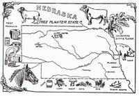 Vintage Illustrative Map of Nebraska (1912)