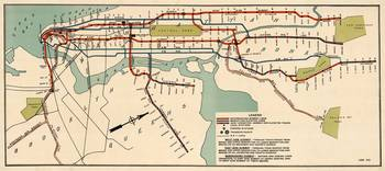 Vintage NYC Subway Map (1918)