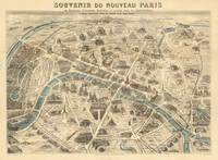 Vintage Pictorial Map of Paris France (1871)