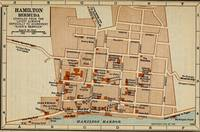 Vintage Map of Hamilton Bermuda (1922)
