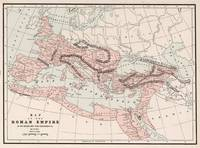 Vintage Map of The Roman Empire (1901)