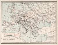 Vintage Fall of The Roman Empire Map (1901)