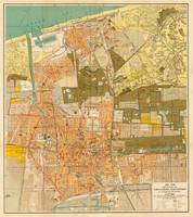 Vintage Map of Scheveningen Netherlands (1916)