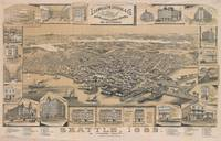 Vintage Pictorial Map of Seattle WA (1889)