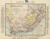 Vintage South Africa Resource Map (1889)
