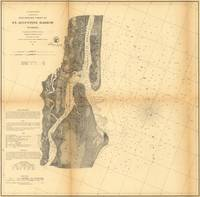 Vintage Map of St Augustine Harbor (1862)