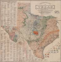 Vintage Geological Map of Texas (1920)