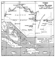 Vintage Map of Turks and Caicos & Bahamas