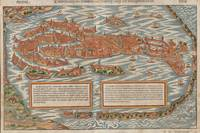 Vintage Pictorial Map of Venice Italy (1550)