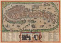 Vintage Map of Venice Italy (1572)