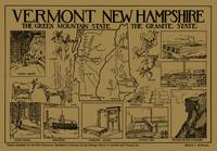Vintage Map of Vermont and New Hampshire (1912) -