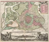 Vintage Map of Vienna Austria (1716)