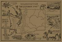 Vintage Map of Washington State (1912) - Tan