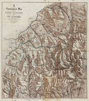 Vintage Map of The White Mountains (1870)