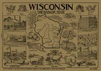 Vintage Map of Wisconsin (1912) - Tan