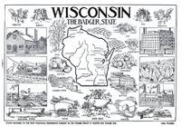 Vintage Map of Wisconsin (1912)