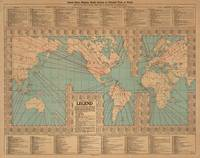 Vintage World Map Shipping Routes and Speeds (1923