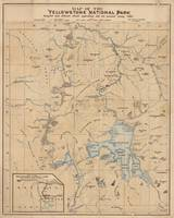 Vintage Map of Yellowstone National Park (1889)