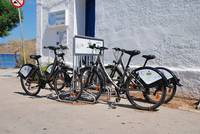Bicycle rank, Tilos island