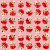 kawaii jam jar pattern pink