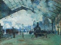Arrival of the Normandy Train by Monet