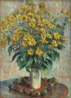 Jerusalem Artichoke Flowers by Claude Monet